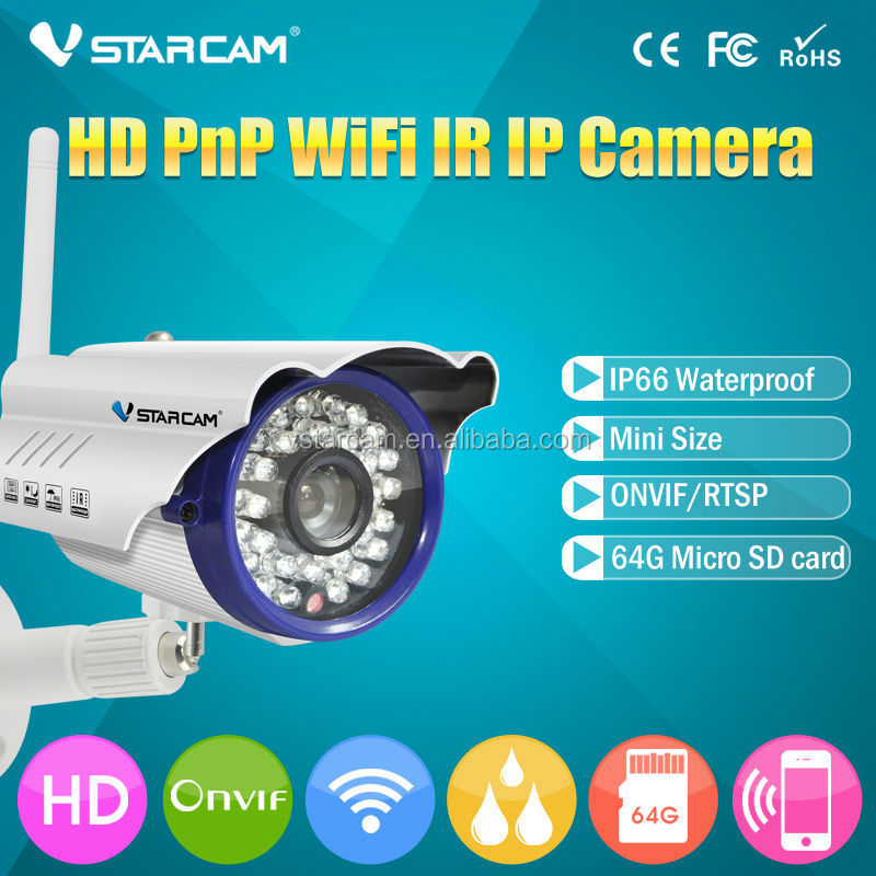 VStarcam Onvif camera Support 64gb sd card NetWork Technology and Vandal-proof Special Features mini wireless Onvif camera