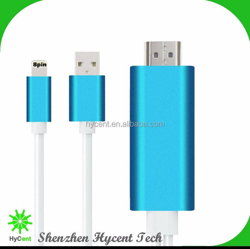 2016 NEW HDTV cable for iPhone product MHL 8-pin to HDTV adapter sync cable for ipad 4 for iphone 5 6 plus