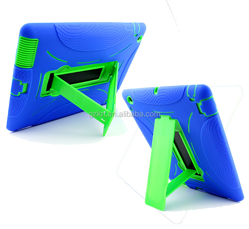 Shock resistant silicone tablet case for iPad 3 4 factory cheap bumper back cover