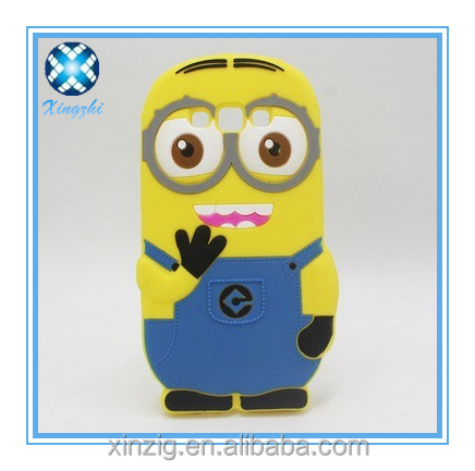 3D cartoon silicone phone case with function anti-shock