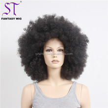 "Guangzhou Fantasywig 19"" Long Natural Color2 Japanese Synthetic Hair Afro African American Glamorous Wig With Combs"