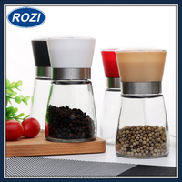 Salt and Pepper Ceramic Grinder Spice Mill High Quality Glass Body