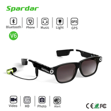 Mini 720P HD Video Vision Camera Glasses Bluetooth MP3 Sunglasses