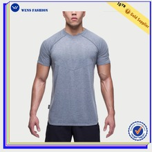 Wensfashion mens fitness body building wear custom brand sports t shirt