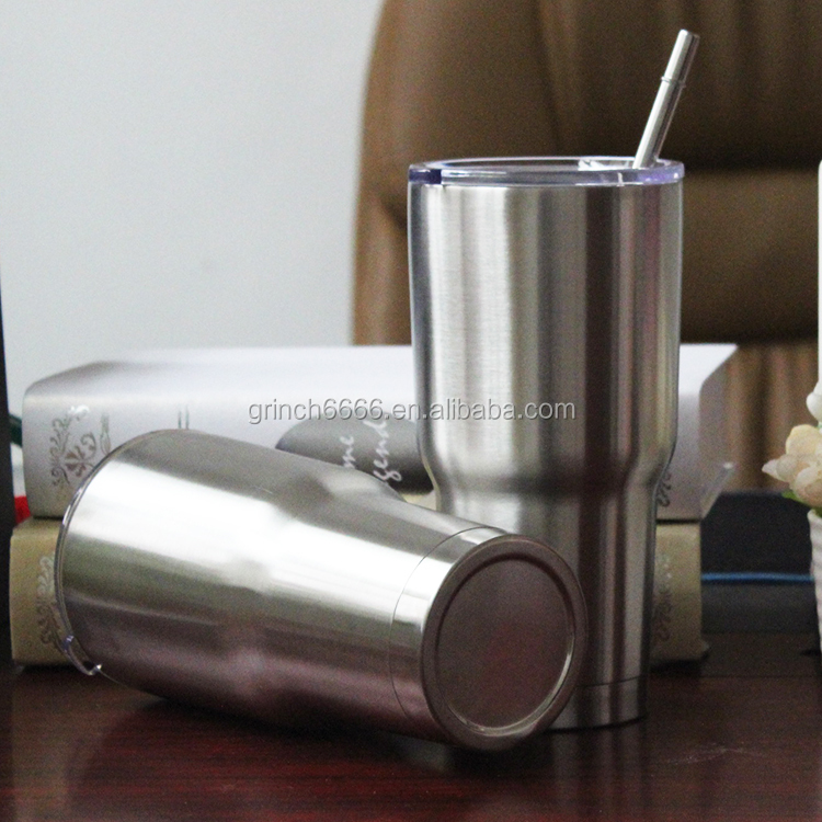 double wall 30oz 18/8 stainless steel vacuum cup,insulated Tumbler Cup with crystal lid,ice/cold travel tumber Cup