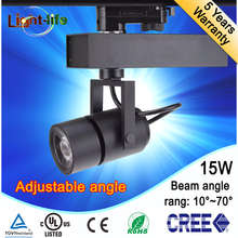 factory sale high quality hot sale focusable 15W COB LED track Light