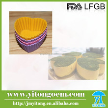 Best-seller heart shape food grade Silicone cupcake