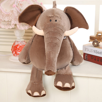 Factory direct cartoon feather cotton and soft hold like plush toys children to accompany sleep elephant doll wholesale