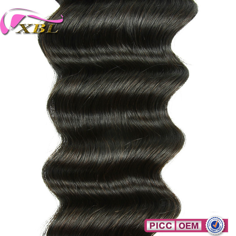 XBL New Arrival Loose Deep Wave Chinese Human Hair Extensions,100 Mink Hair Remy Hair