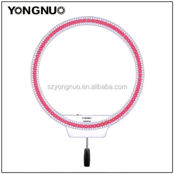 YONGNUO YN608RGB LED video light with full color fill-in light design for live video and sulfite