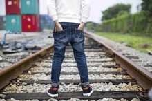 Autumn Fashion Boy Fancy Jeans Slim Fit Boys Jeans