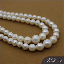 Jewelry making 4-9mm near round graduated freshwater pearl strand