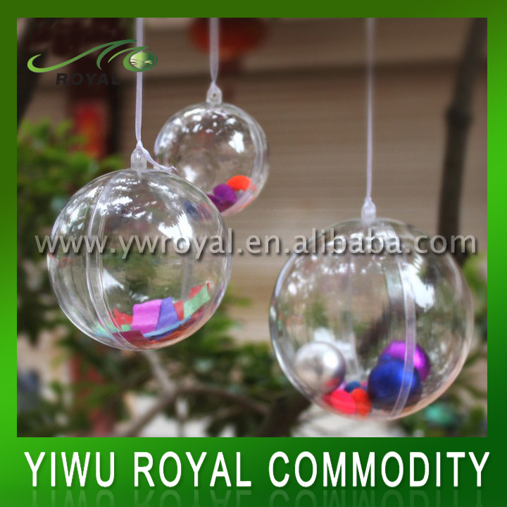 New Plastic Clear Christmas Wish Balls Ornaments