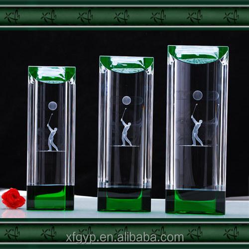 2d Laser Engraving Crystal cubes golf sport medals