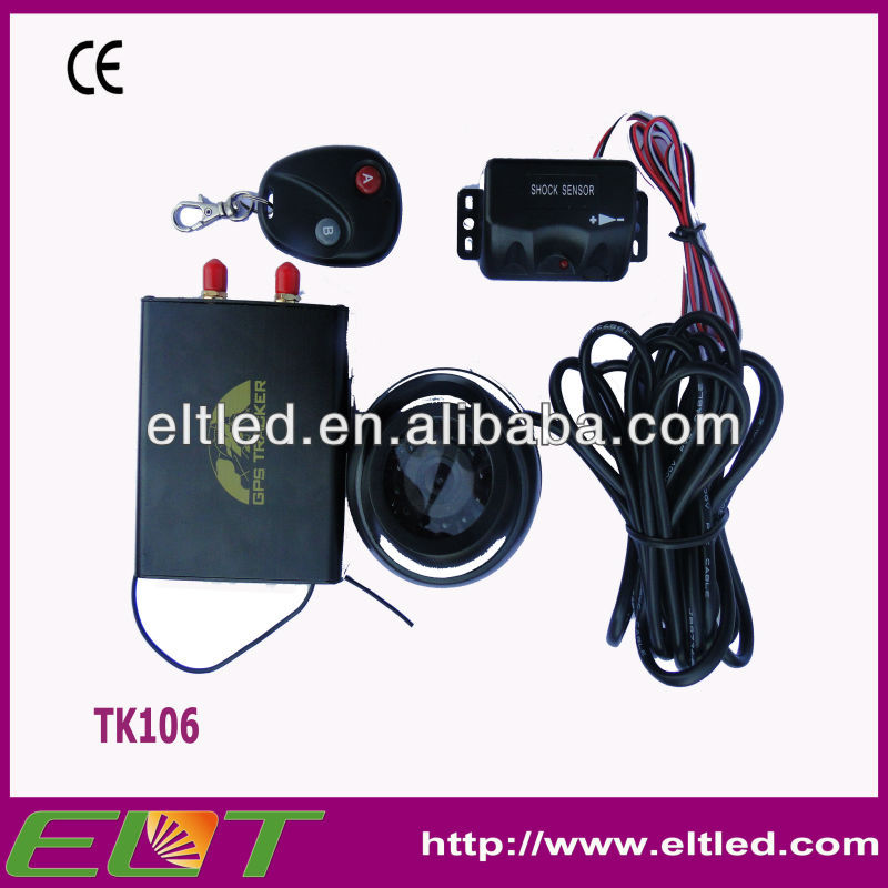 "TK106 gps gsm tracker/ online real time tracking/ support camera and sd card remote control for ""ARM"" &"" DISARM"" gps gsm tracker"