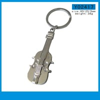 Stainless steel guitar shaped key chain