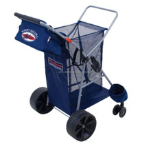 All Terrain Beach Cart Extra Wide Wheels Wagon Tote 100lb Capacity
