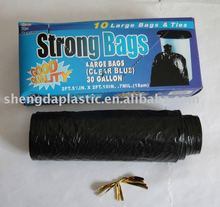 plastic garbage bags on roll