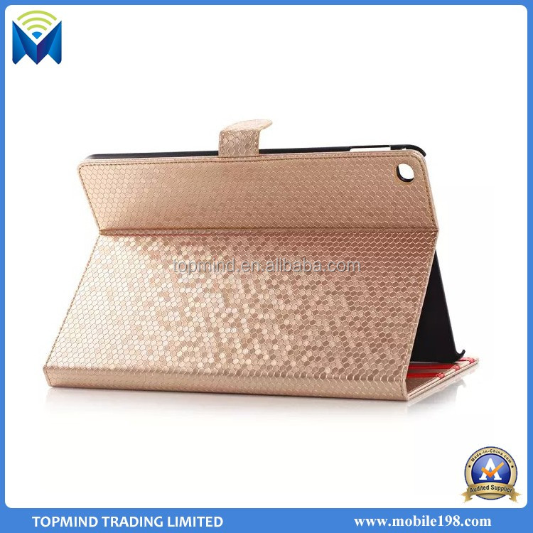New Fashion Bling Bling Bling Diamond Book Stand Leather Cover Case for iPad Air 2