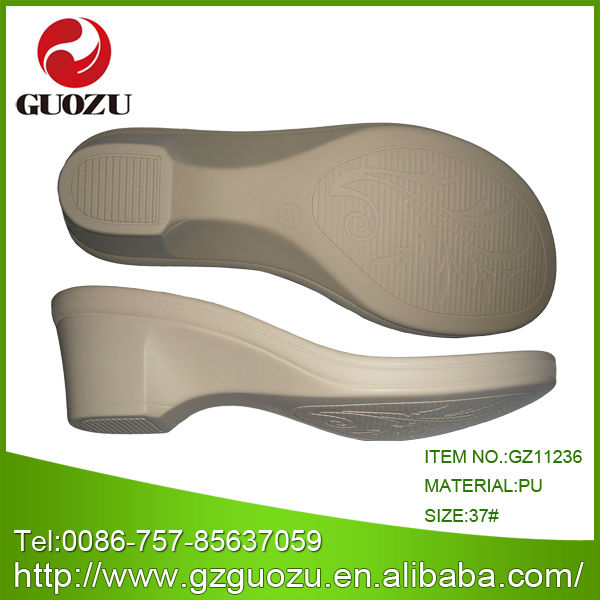 Lady Cream PU shoe sole <strong>manufacturing</strong>