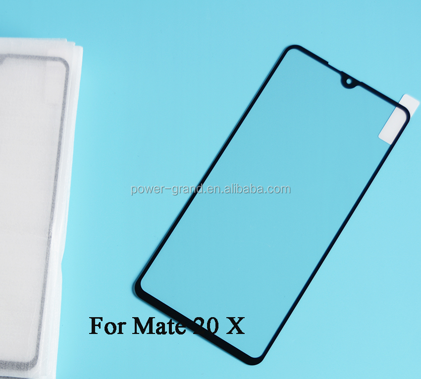 2nd time reinforcement Silk printing FULL Glue full cover Tempered glass screen protector for Huawei Mate 20 X