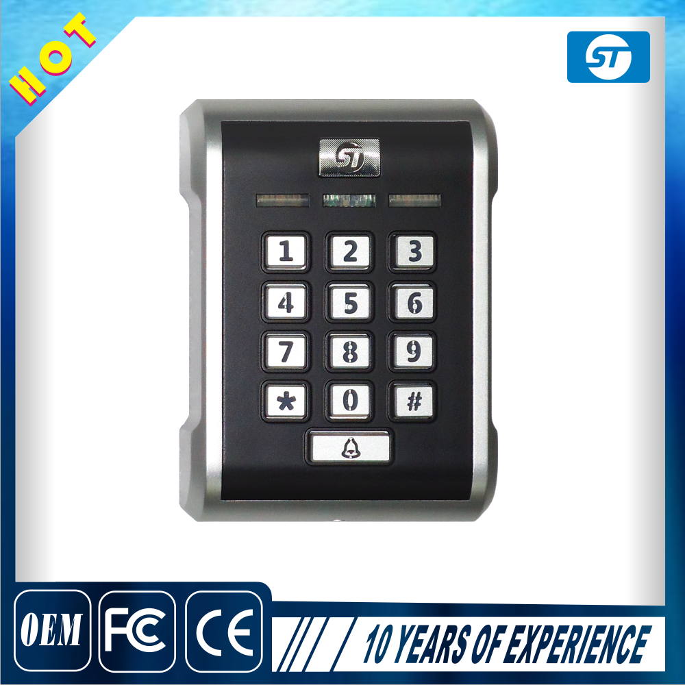Access Control System Standalone RFID security keypad for 125khz or 13 56mhz