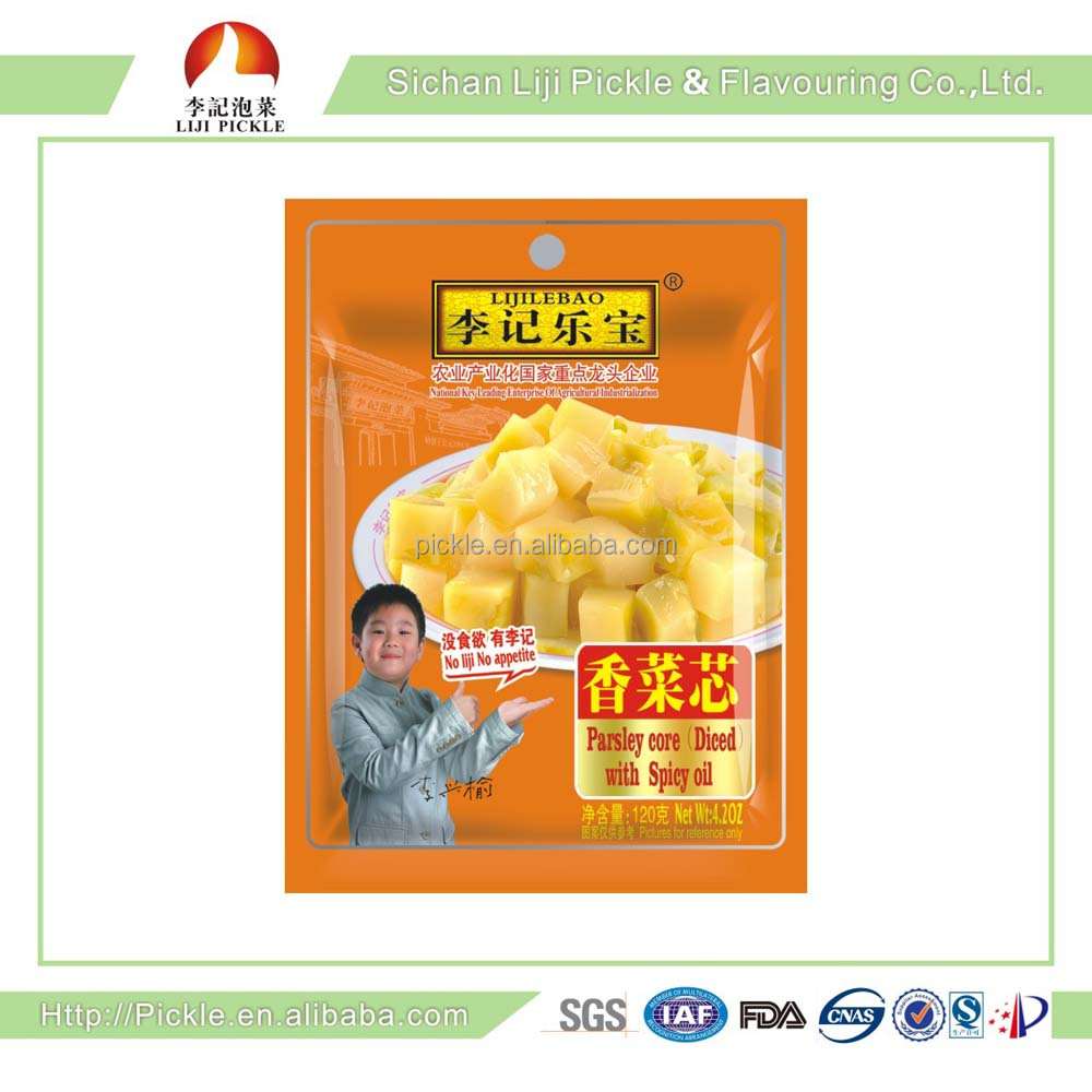 High quality Low calorie pickle ,Appetizing healthy Chinese preserved vegetable with ISO certification