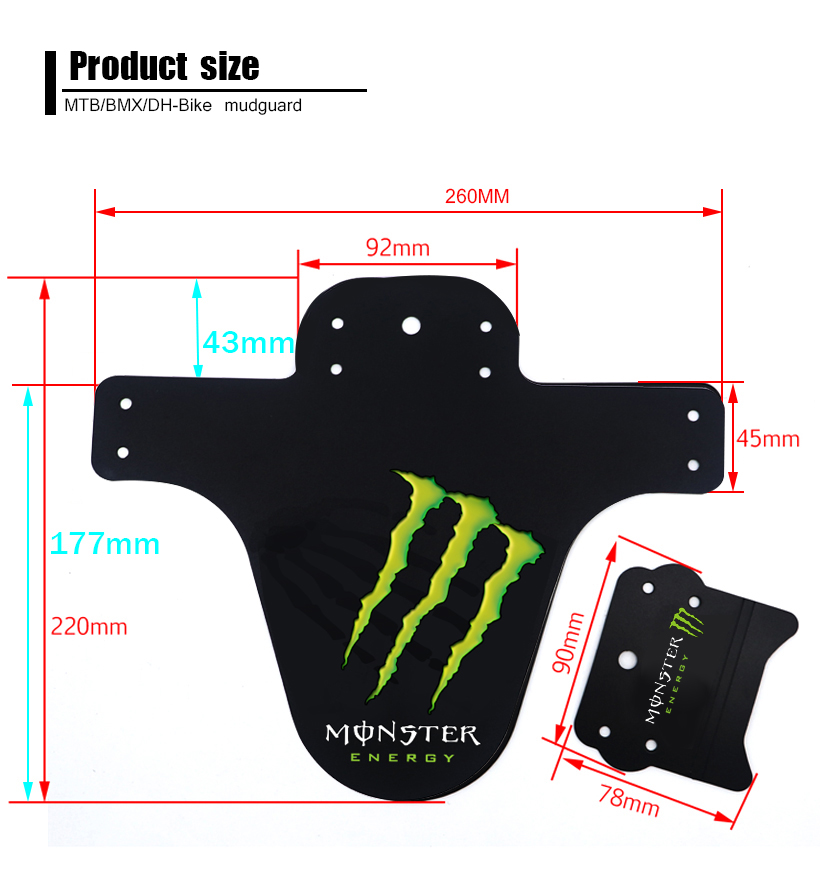 Latest Superlight Bike Mudguard parts for suspension downhill mtb bike