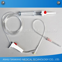 Disposable equipment used in blood transfusion