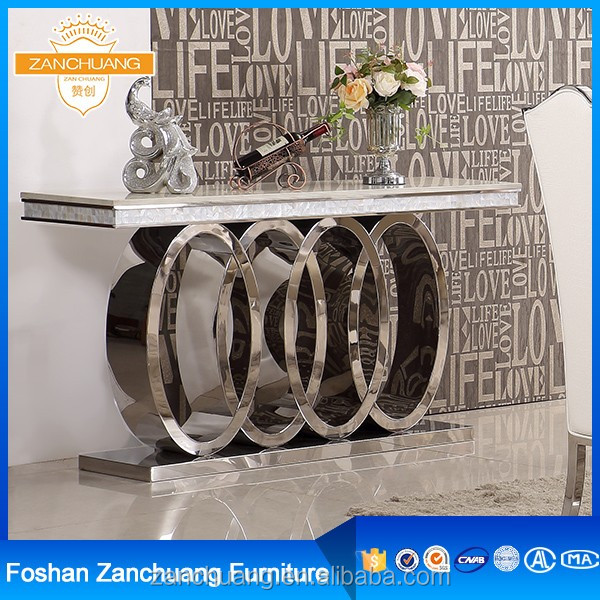 Dining room furniture Marble stainless steel hobby lobby console tables