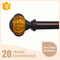 AAA quality fashion simple style yellow acrylic dual curtain rod finial