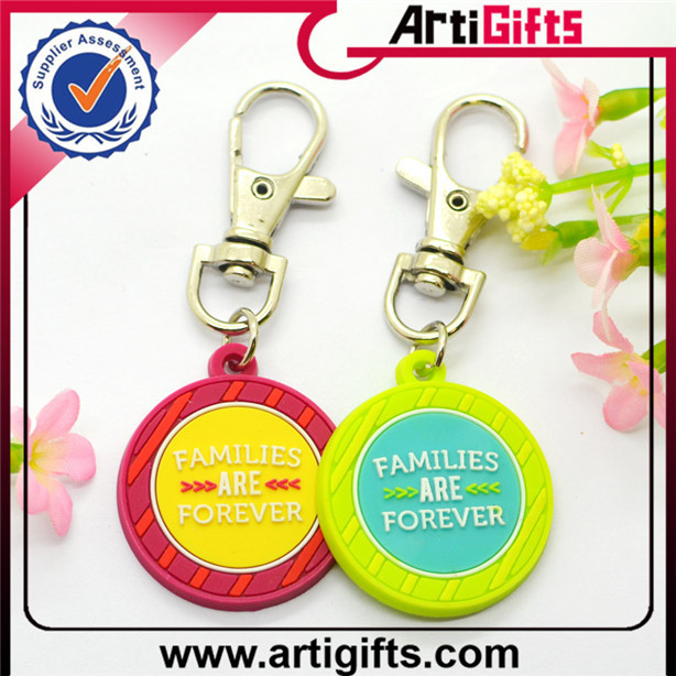 Wholesale gold key ring tag plastic