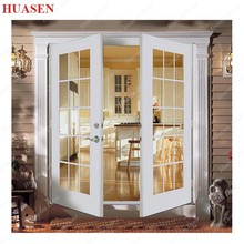 low price french double interior door insert tempered glass