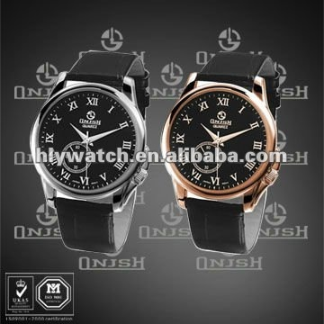 (Popular Big Watch Dial Leather Strap Sport Watches) HLY-3013A
