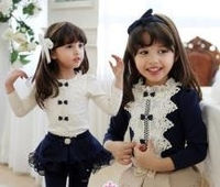 China Wholesale Clothing Tall Elegant Lace T-Shirts For Child Clothes