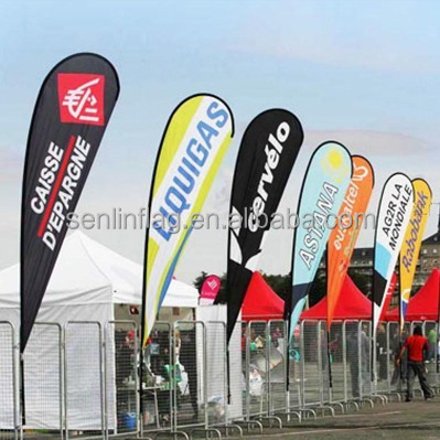 Guangdong factory team swooper teardrop standing flag