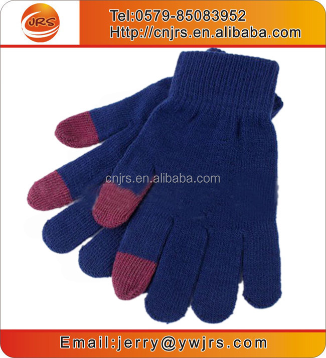 Made in China wholesale cheap acrylic knitted gloves for Iphone