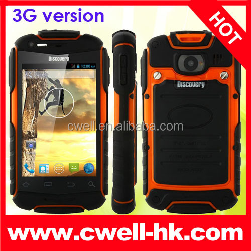 discovery v5 MTK6572 dual core 3g shockproof rugged android 4.0 smart phone