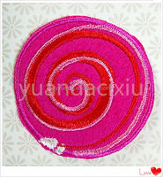 2015 latest design embroidery patch clothing and iron-on patch free sample