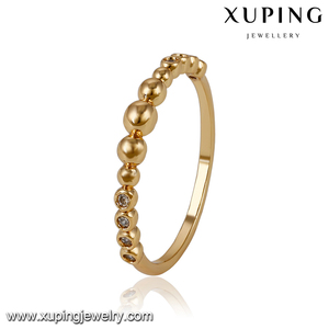 14090-18k fake gold jewelry four finger ring custom