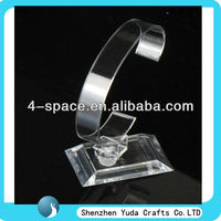 we offer acrylic watch display shelf we supply pleixglass watch C clip display stand clear acrylic material C clip shelf