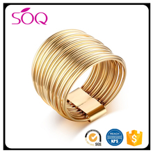 2017 Hot selling trending product high polished stainless steel luxury personalized finger jewelry big gold ring