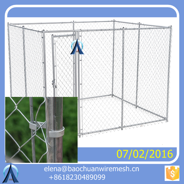 welded mesh or chain link mesh type 6ft dog kennel cage