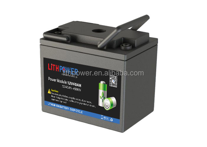 deep circle rechargeable lifepo4 12v 40ah lithium ion battery pack for light