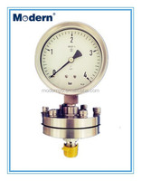 Flanged stainless steel pressure gauge