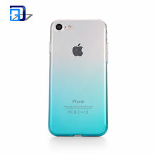 Gradient Colour Ultra Thin Soft TPU Bumper Scratch Resistant Back Cover Crystal Clear Flexible Silicone Case For iPhone 7