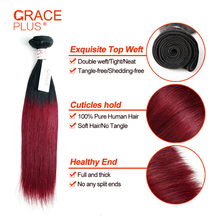 brazilian human hair color 99j hair weave red braiding hair