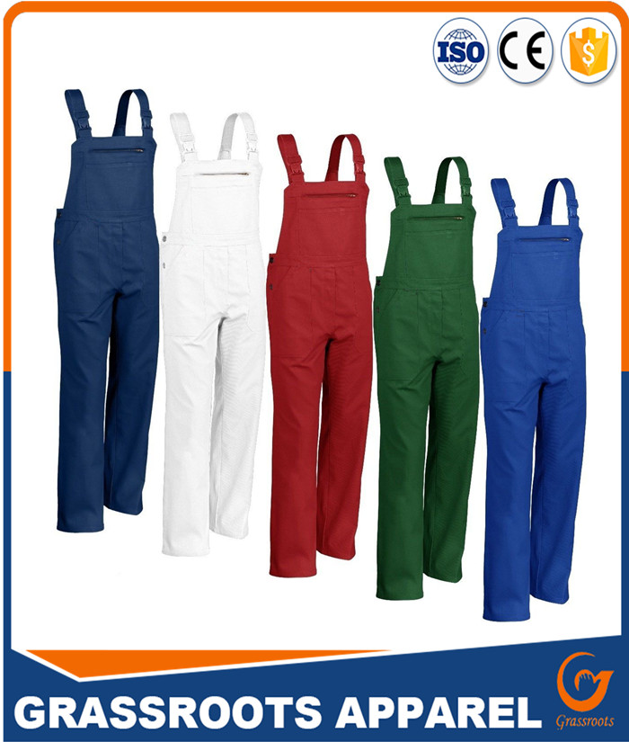 T/C working bib pant overall/ new fashion design men bib overalls for working
