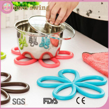 High Quality Flower Shape Silicone Cup Coaster/ Pot Holder / Coaster / Placemat / Hot Pad