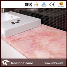 Luxury Designed Pink Quartz Stone Countertops